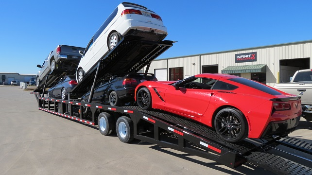 Car Trailer Winch >> GN550, NEW LOW PRO 53'ft 5 Car Trailer Hauler For Sale ...