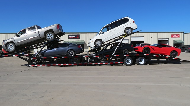 Gn550 New Low Pro 53 Ft 5 Car Trailer Hauler For Sale Infinity Trailers